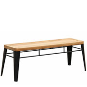 house bench black powdercoat steel seat with timber seat