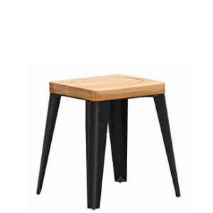 house barstool black powdercoat steel stool with timber seat