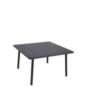 Darwin Low Table - Black powdercoat steel coffee table for outdoor use