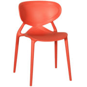 Angel L Chairs - Red polypropylene outdoor cafe chair